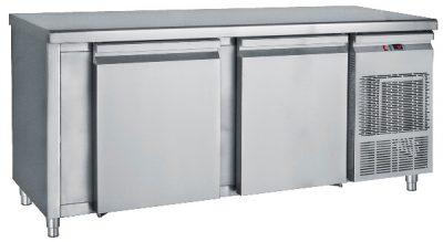 Ψυγείο Πάγκος Συντήρηση 155x70x85 με 2 πόρτες μεγάλες